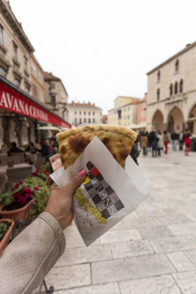 Croatian slice of pizza at the Split square // Photos and stories from a week in Croatia // Memories from the Balkans // Dubrovnik, Split, and Zagreb