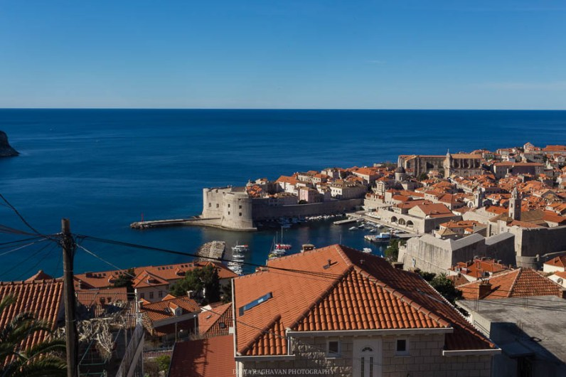 Sea of Rooftops and the Adriatic sea seen from the Dubrovnik city walls // Photos and stories from a week in Croatia // Memories from the Balkans // Dubrovnik, Split, and Zagreb