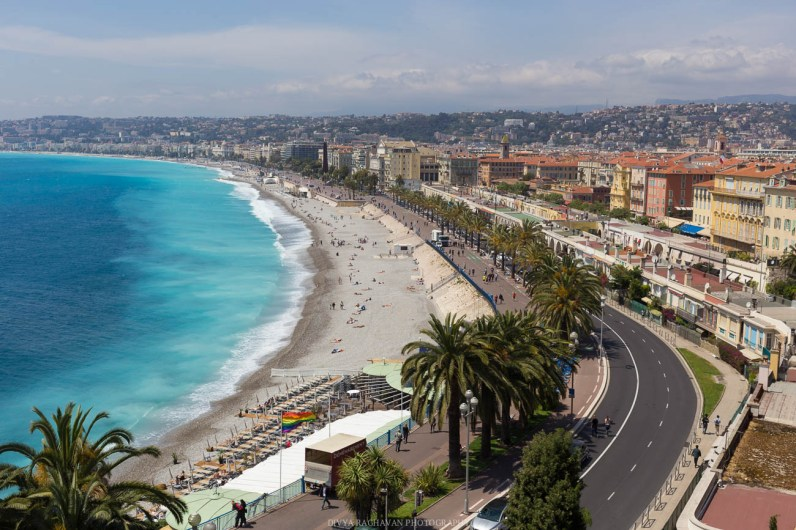 The promenade at Nice, look at the colors of sea!