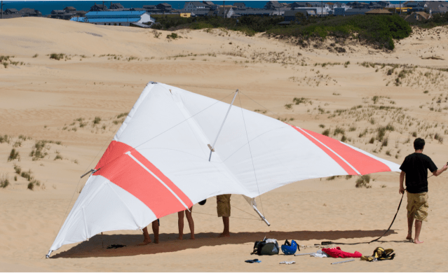 things to do in kill devil hills, hang gliding over sand dunes