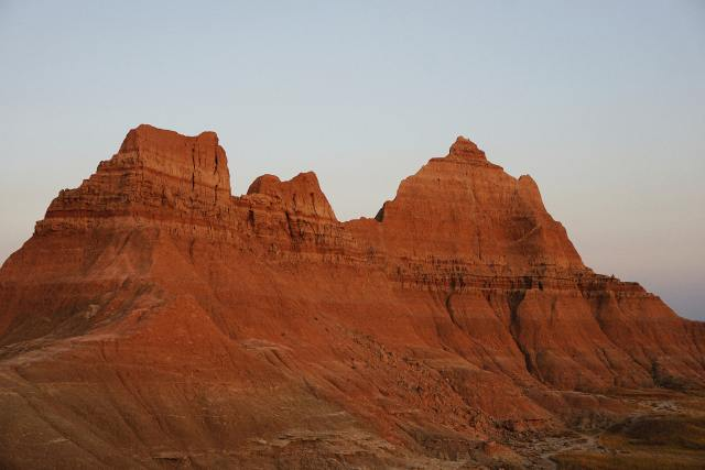 beautiful rock formations on south dakota road trip with kids