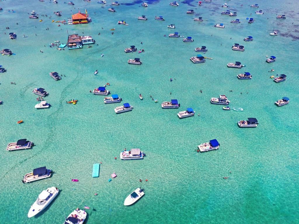 boats in the water in Destin Florida