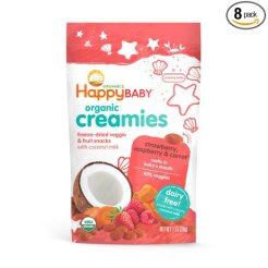 Happy Baby Organic Creamies Freeze-Dried Veggie and Fruit snacks