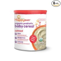 Happy Baby Organic Probiotic Baby cereal with Choline