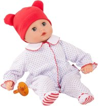 Phthalate-Free Vinyl Doll - Gotz Boy Muffin Bald Soft Body Baby Doll in Red White & Blue Footed Pajamas