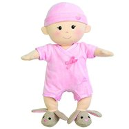 Organic Baby Doll Apple Park Baby Girl With Bunny Booties