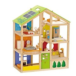 Non-Toxic Holiday Gift Ideas -Hape Wooden Doll House