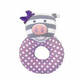 Non-Toxic Toys - Organic Farm Buddies Rattle, Penny the Piggy
