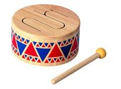 Non-Toxic Toys - Plan Toys Solid Wood Drum