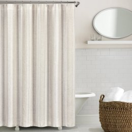 Non Toxic Shower Curtain - Echelon Washed Belgian Linen Shower Curtain