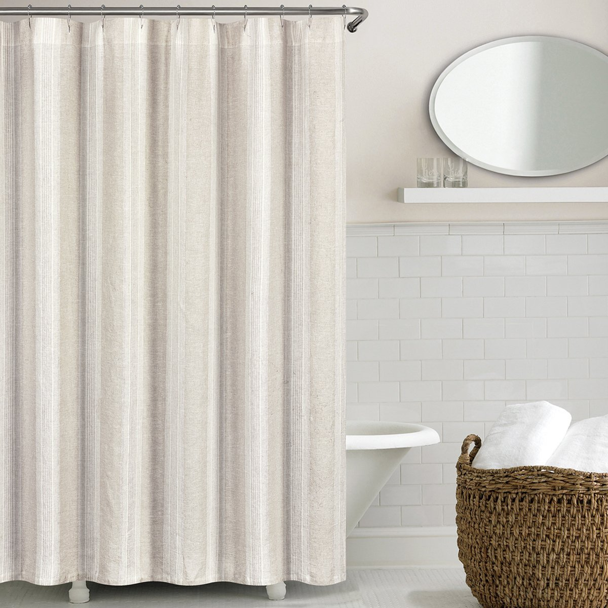 Exceptionnel Non Toxic Shower Curtain   Echelon Washed Belgian Linen Shower Curtain