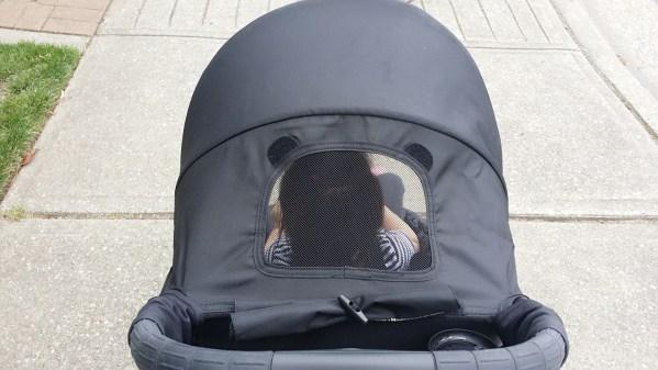 Baby Jogger City Tour Review - Peekaboo window