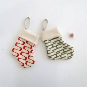 Non Toxic Christmas Decorations - 100% Organic Cotton Christmas Stocking Ornaments