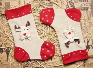 Non Toxic Christmas Decorations - 100% Organic Hemp Handmade Christmas Stocking