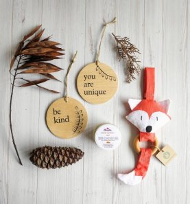 Non Toxic Christmas Decorations - Handmade Organic Baby Shower Gift Christmas Edition