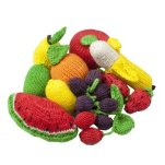 Non Toxic Toys For Toddlers - Camden Rose Knitted Play Food Fruit Variety Set