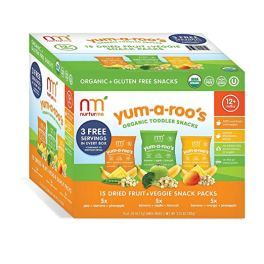 Healthy Snacks For Kids - NurturMe Yum-A-Roo's Organic Toddler Snacks
