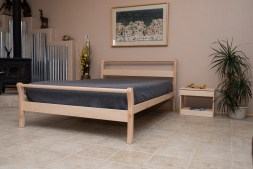 Solid Wood Platform Bed - Organic Lifestyle Untreated Solid Wood Bed Frame