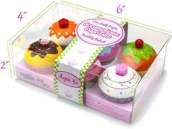 Non Toxic Gifts For Preschoolers - Imagination Generation Wood Eats! Scrumptious Cupcakes Dessert Set