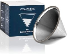 Non Toxic Coffee Filter - Ovalware Paperless Stainless Steel Pour Over Coffee Filter
