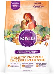 Organic Dog Food - Halo Natural Dry Dog Food, Small Breed Chicken & Chicken Liver Recipe