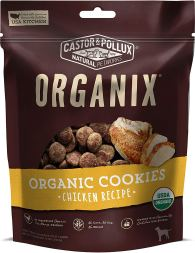 Organic Dog Treats - Organix Castor & Pollux Chicken Flavored Dog Cookies
