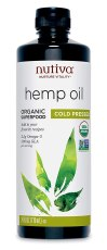 Healthy Cooking Oil - Nutiva Organic, Cold-Pressed, Unrefined Hemp Seed Oil from non-GMO