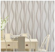 Non Toxic Wallpaper - Blooming Wall Extra-Thick Modern Non-Woven Leaf Flows Pattern Wallpaper