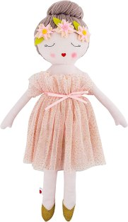 Non Toxic Gifts For Preschoolers - Hearts of Yarn Plush Madeleine Ballerina Doll For Girls Soft Sleeping Cuddle Buddy