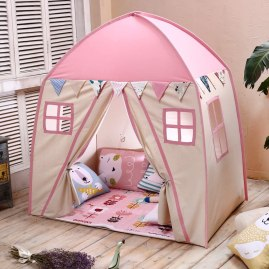 Non Toxic Gifts For Preschoolers - Love Tree Teepee Tent for Kids Play Tent Children Fort Canvas Canopy for Indoor Outdoor