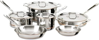 Stainless Steel Cookware - All-Clad Copper Core 5-Ply Bonded Dishwasher Safe Cookware Set