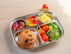 Stainless Steel Dinnerware For Kids - 1theJH Stainless Steel Divided Plates Tray