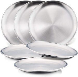 Stainless Steel Dinnerware For Kids - HaWare Metal 304 Dinner Dishes for Kids Toddlers Children