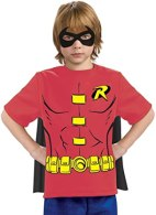 Non Toxic Halloween Costumes For Kids - Justice League Child's Robin 100% Cotton T-Shirt