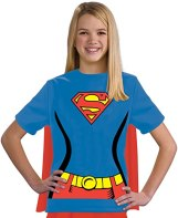 Non Toxic Halloween Costumes For Kids - Justice League Child's Supergirl 100% Cotton T-Shirt