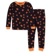 Non Toxic Halloween Pajamas - Burt's Bees Organic Cotton Pajamas Pumpkin Spice