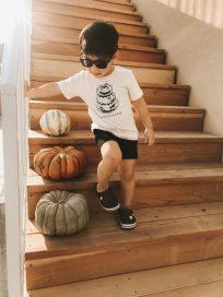 Non Toxic Halloween Shirt For Kids - Saucetribe Organic Cotton Pumpkin Tshirt