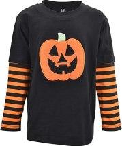 Non Toxic Halloween Shirt For Kids - Unique Baby Unisex Halloween Pumpkin Shirt
