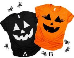 Non Toxic Halloween Shirt For Kids - YASMERCH Halloween Pumpkin Shirt