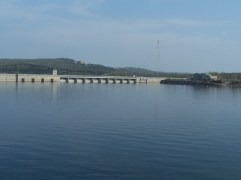 2) Baird Mountain, Table Rock Dam, and Visitors Center from the Branson Belle