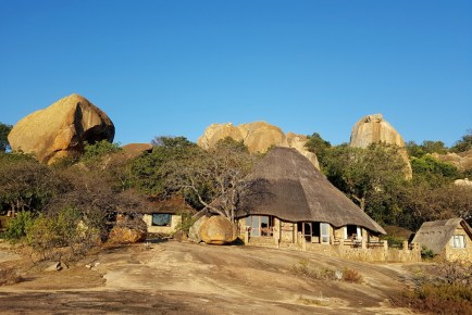 The Big Cave Camp in the Matopos near Bulawayo