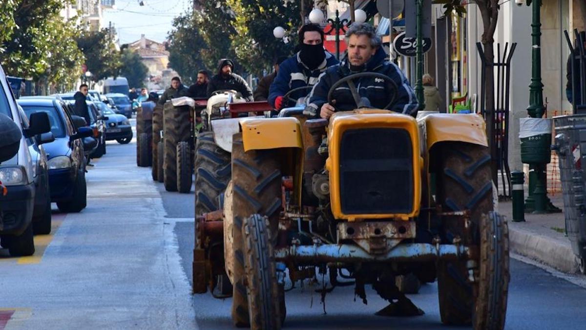 Proteste ale fermierilor în Grecia. FOTO ekathimerini.com