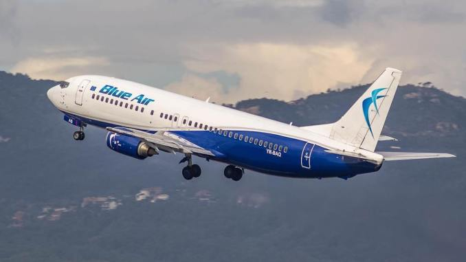 Aeronavă Blue Air. FOTO Facebook