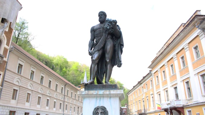 Statuia lui Hercule de la Băile Herculane. FOTO Adrian Boioglu