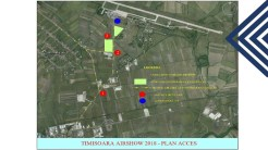 Harta cu accesul la Timișoara Air Show 2018