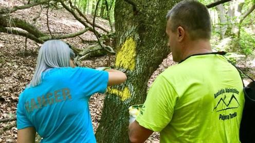 Ragnger-ii au refăcut marcajele de pe Cheile Turzii. FOTO CJ Cluj