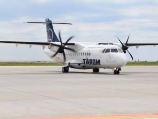 Aeronava TAROM, la Constanța. FOTO Aeroportul Mihail Kogălniceanu