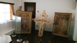 Cele două icoane care au vegheat inima Reginei Maria. FOTO Cătălin SCHIPOR