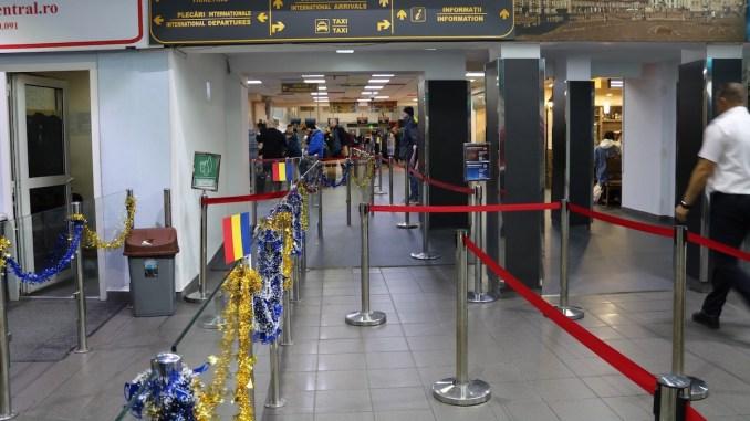 Tricolorul în Aeroportul din Timișoara