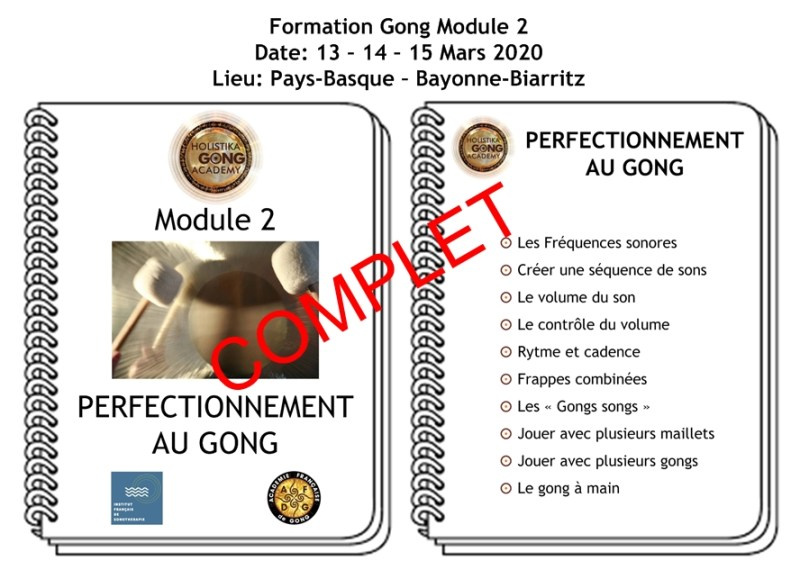 Formation Gong - Perfectionnement - Mars 2020 - Biarritz Bayonne